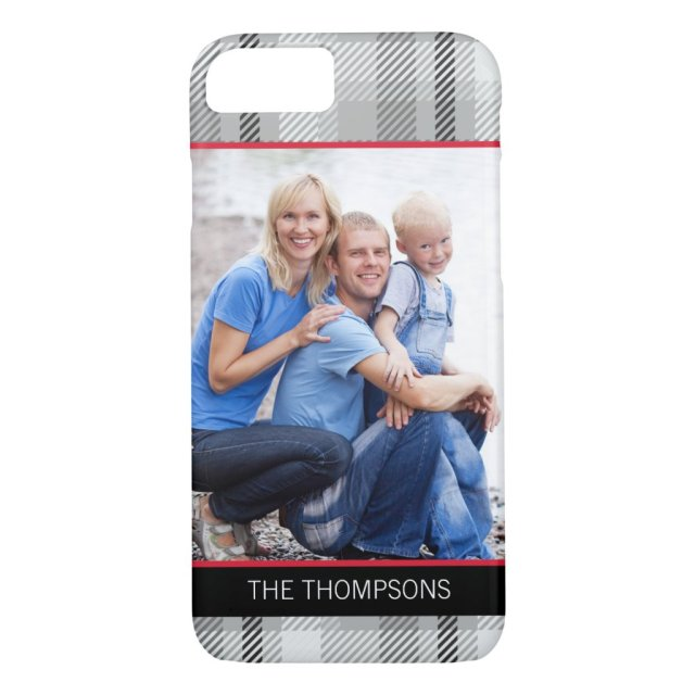 Timeless Plaid Custom Photo iPhone Case