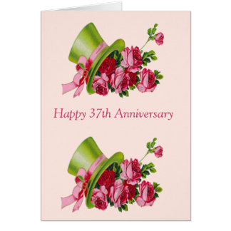 37th Anniversary Cards, Photo Card Templates, Invitations ...