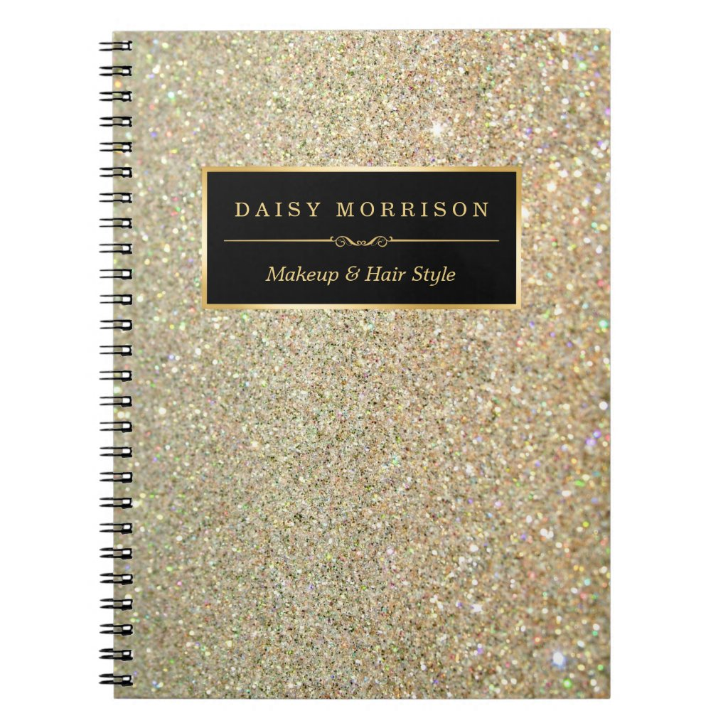 Glitter Personalised Notebook