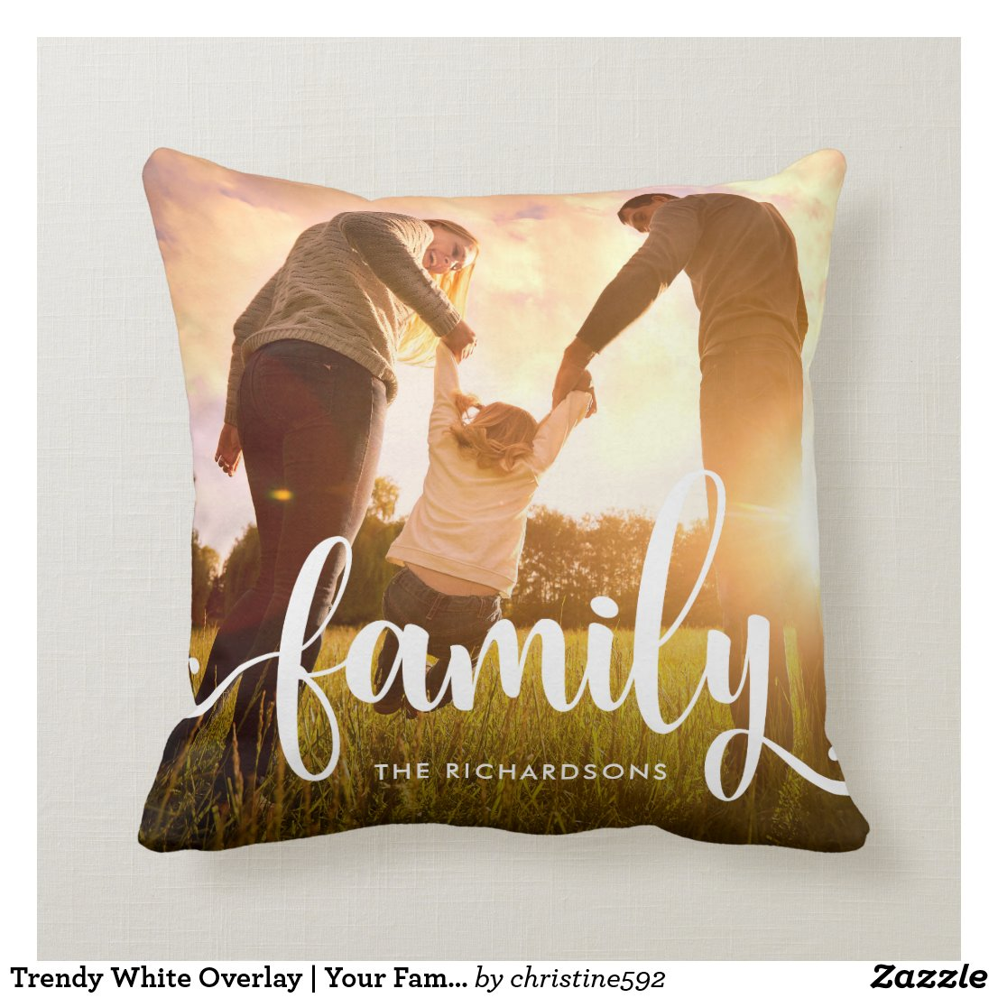 Family Photo Cushion