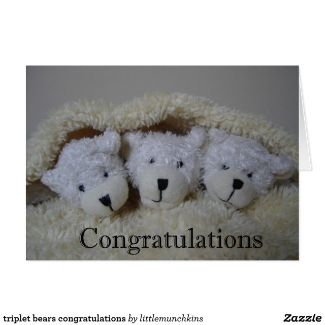 triplet bears congratulations