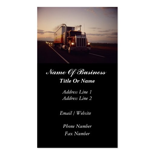 Create Your Own Truck Driver Business Cards Page5