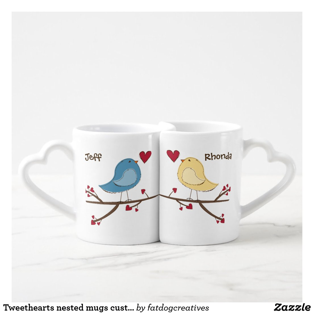 Tweethearts nested mugs