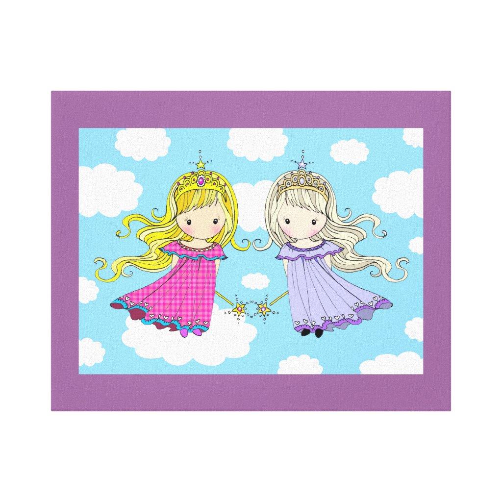Twin Girls Canvas Print