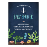 Under the Sea | Nautical Baby Shower Card