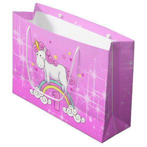 Unicorn 1st Birthday Large Gift Bag