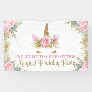 Unicorn Face Unicorn Birthday Party Banner