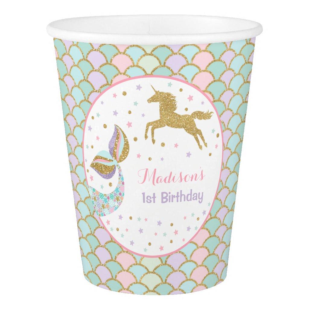 Unicorn & Mermaid Birthday Paper Cup