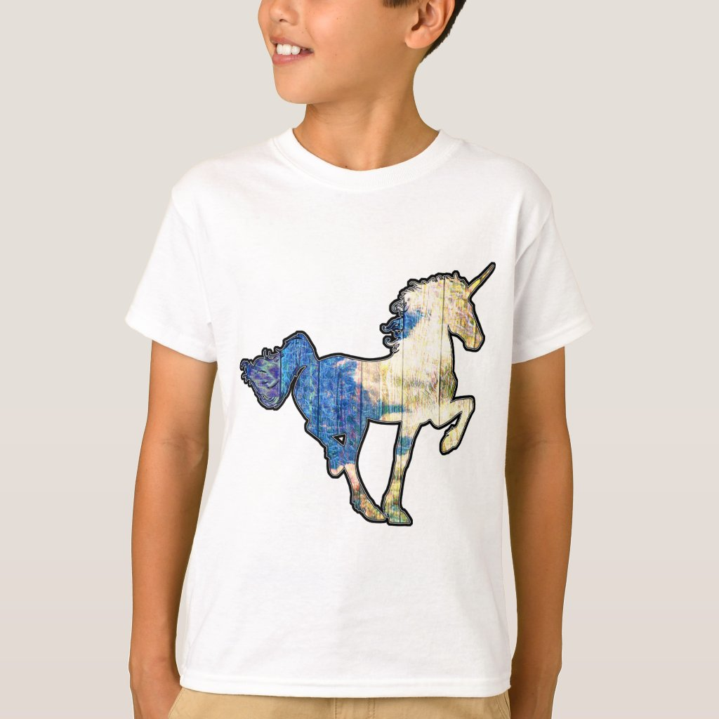 Unicorn with Clouds And Sky T-Shirt