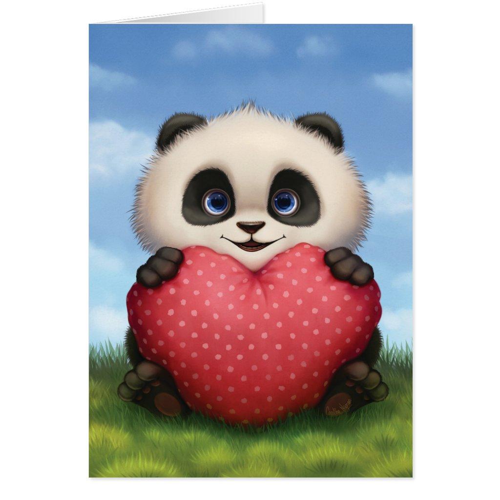 Valentine Panda Card