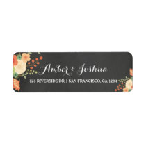 Vintage Chalkboard & Floral Return Address Label