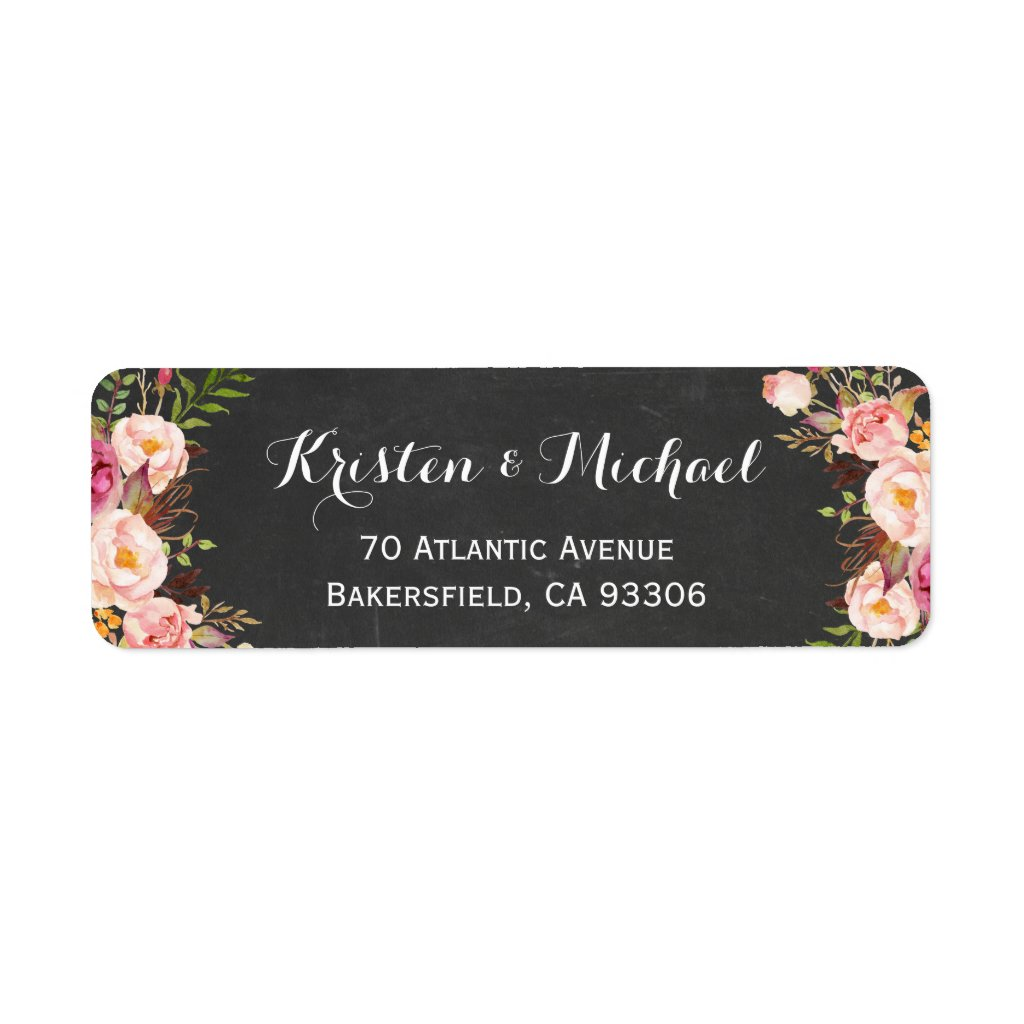 Vintage Chalkboard Floral Wrapping Stickers