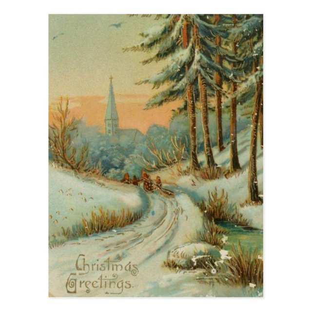 Vintage Christmas Snow Trail