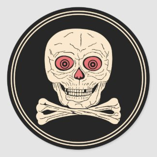 Vintage Halloween Skull & Crossbones