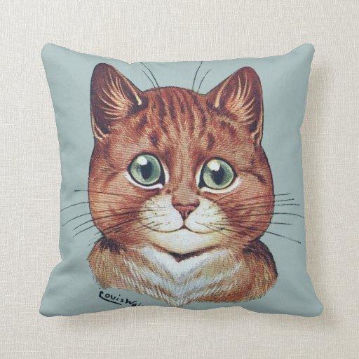 Vintage Louis Wain Cat Portraits Cushion