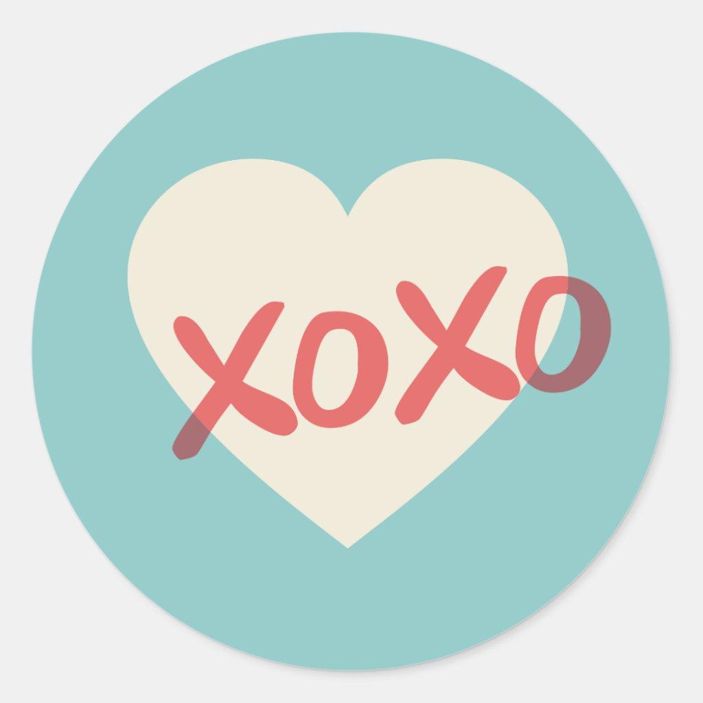 XOXO Valentine's Day Sticker