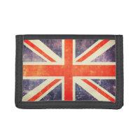 Vintage Union Jack flag Tri-fold Wallet