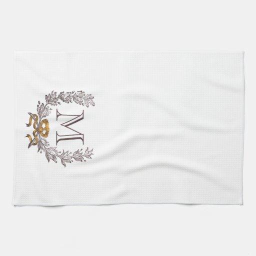 Vintage Wreath Personalised Tea Towel