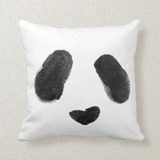Watercolor Panda Heart Face Cushion
