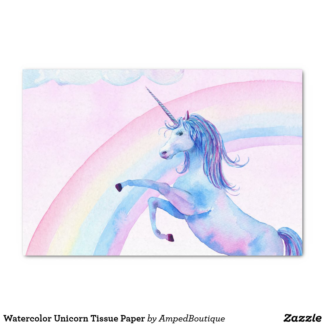 Watercolor Unicorn Tissue Paper
