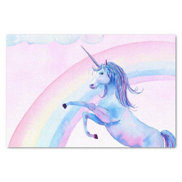 Watercolor Unicorn Tissue Paper