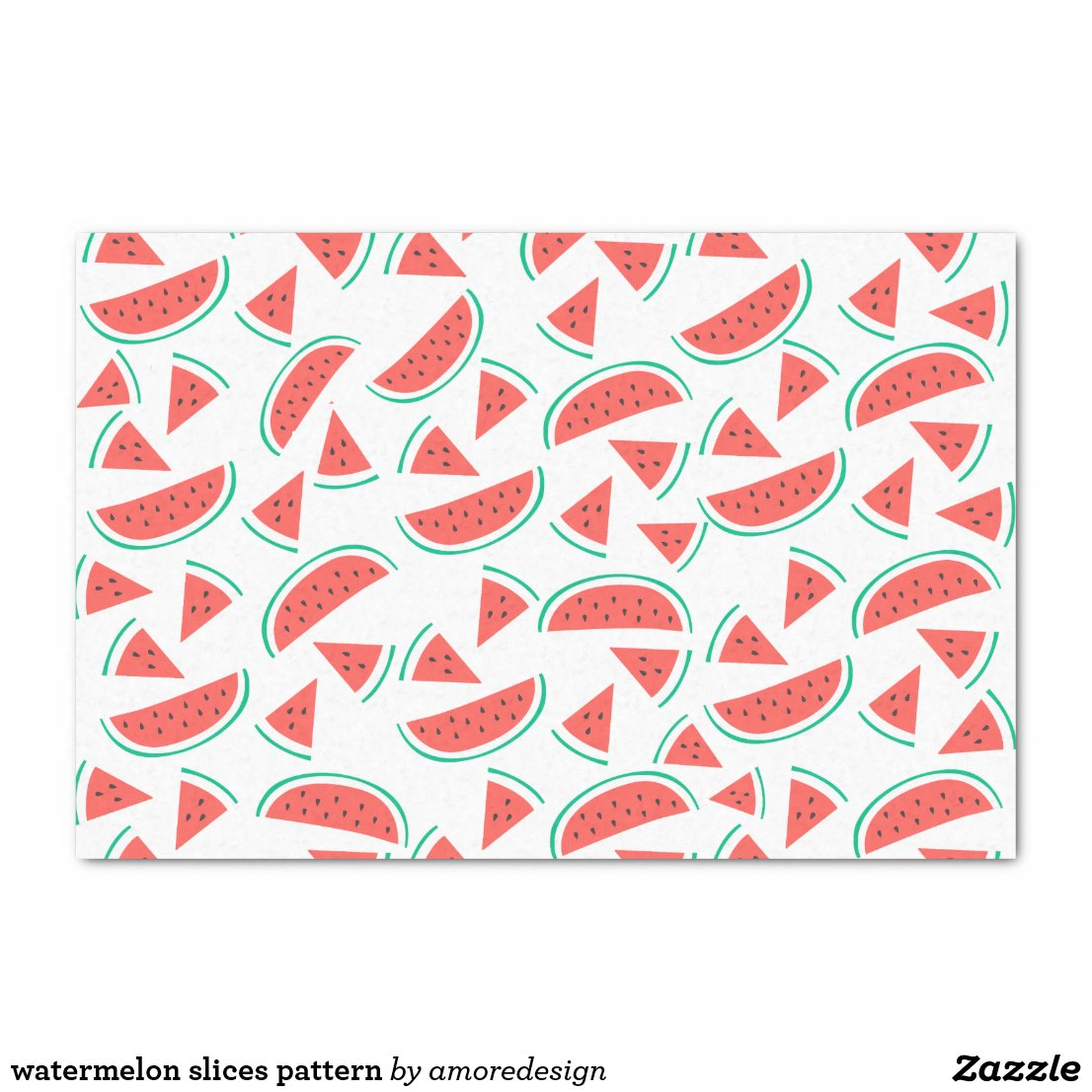 watermelon slices pattern tissue paper