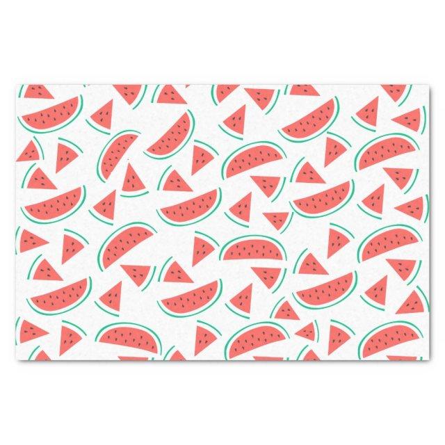watermelon slices pattern tissue paper