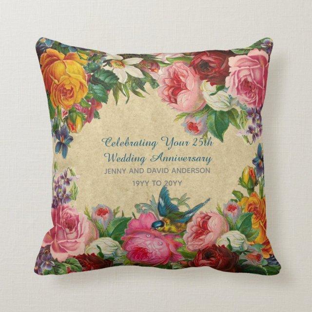 Wedding Anniversary Vintage Personalised Cushion