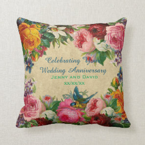 Wedding Anniversay 1st 20th 25th 30th Personalized Cushion