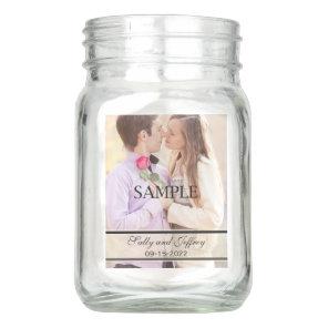 Wedding Centerpieces with Photo 4 Sides Mason Jar