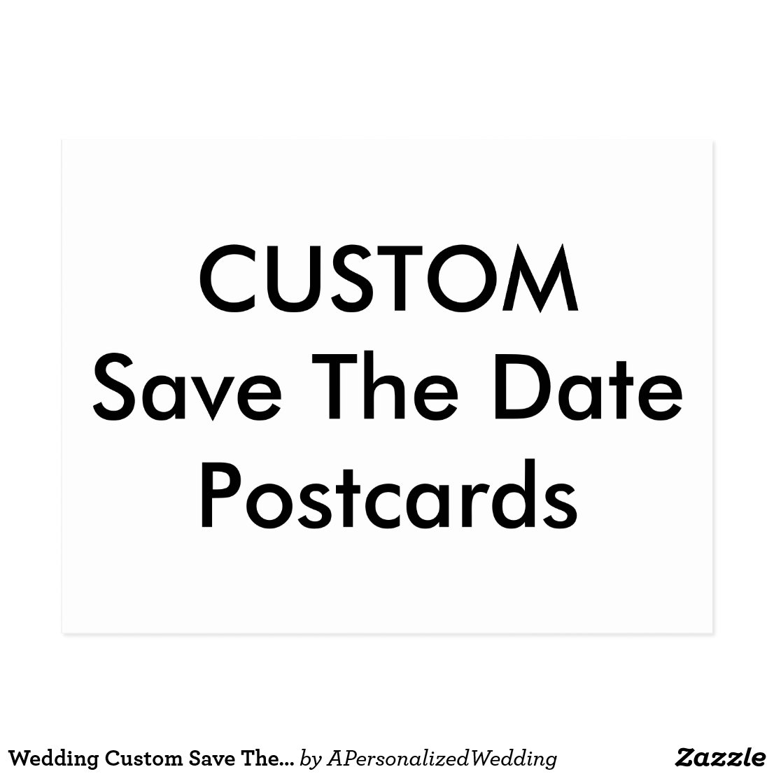 Wedding Custom Save The Date Invitation Postcards