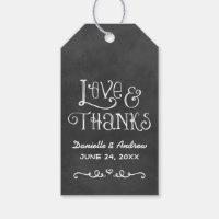 Wedding Favor Tag   Black Chalkboard Charm