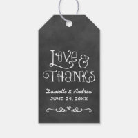 Wedding Favor Tag | Black Chalkboard Charm
