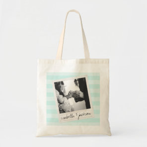 Wedding Instagram Photo Retro frame Custom Text Tote Bag