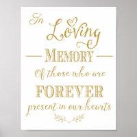 Wedding Memorial table In memory print