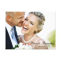 Wedding Photo Keepsake Canvas Print
