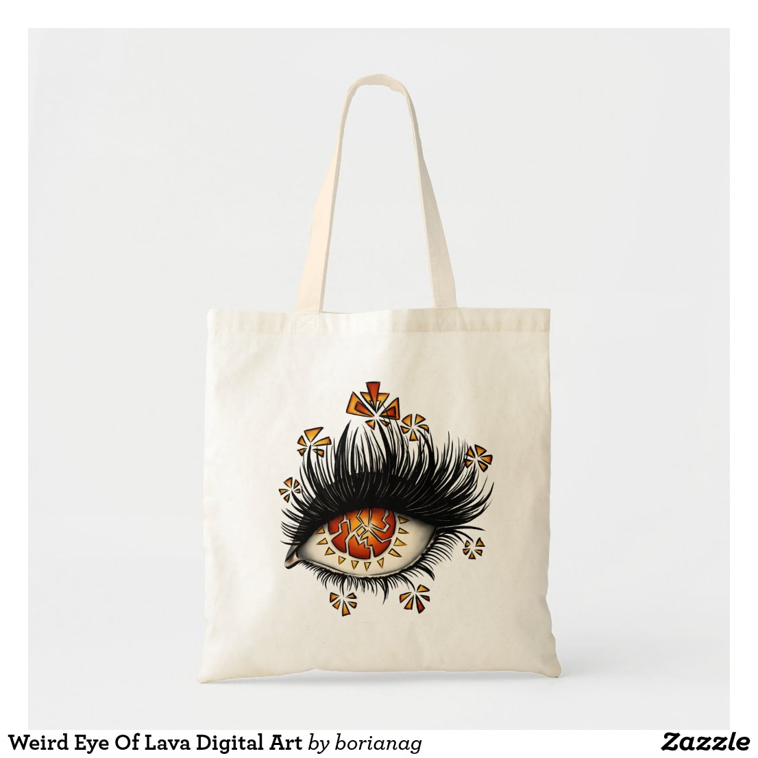 Weird Eye Of Lava Digital Art Tote Bag