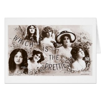Which is the Prettiest Actress? Greeting Card