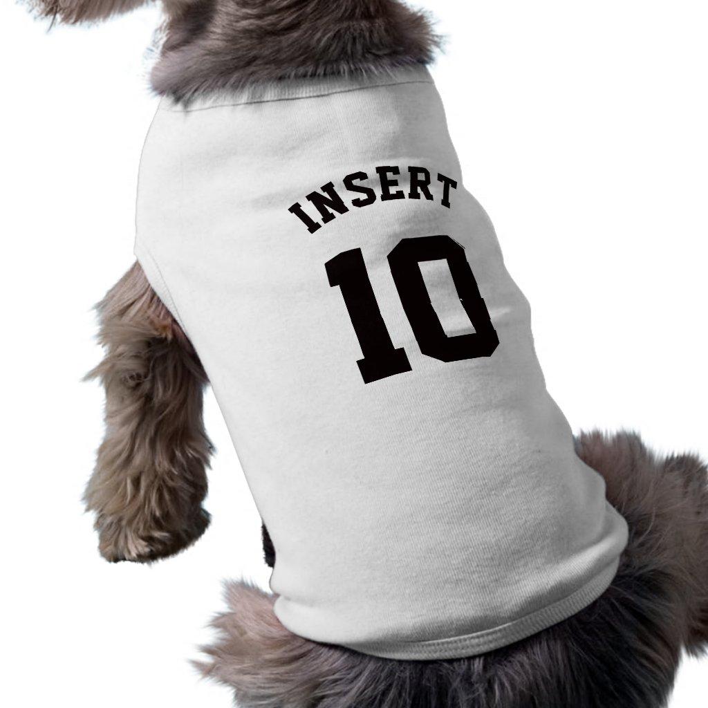 White & Black Pets | Sports Jersey Design Shirt