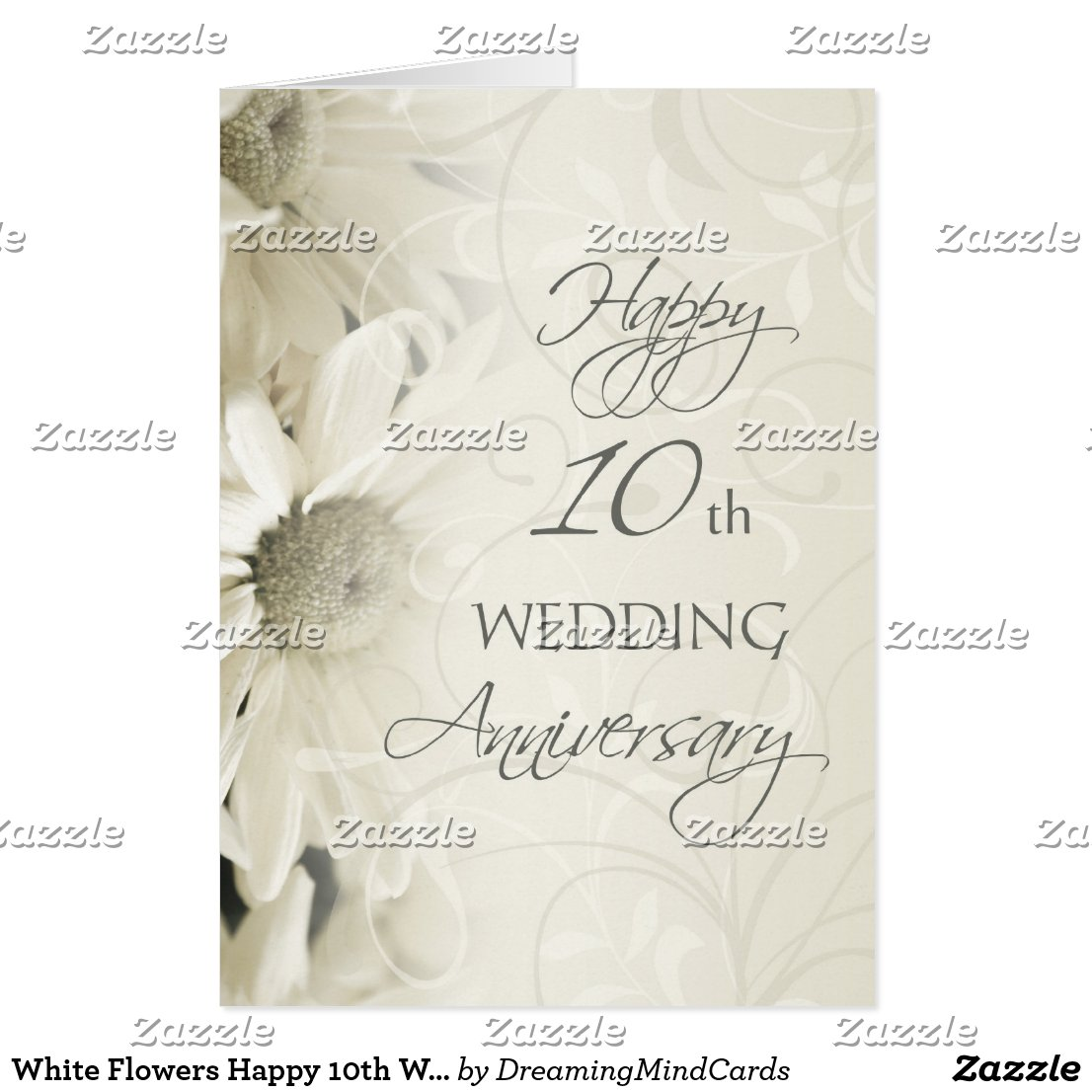 Happy 10th Wedding Anniversary Card