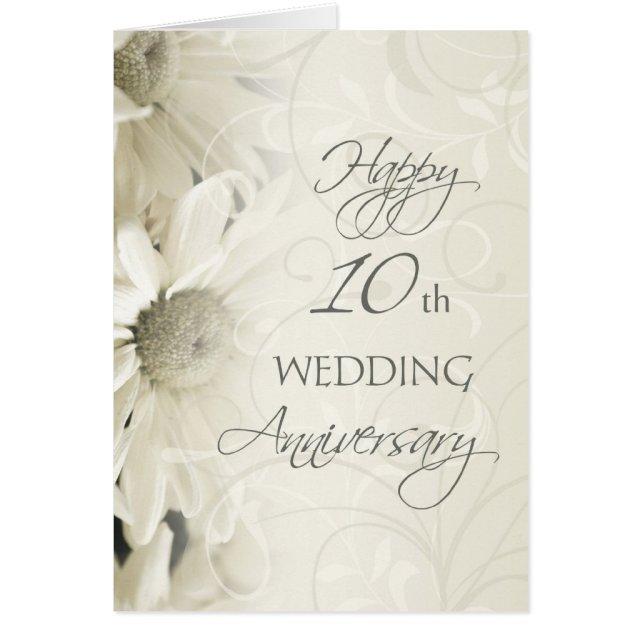 Happy 10th Wedding Anniversary Card