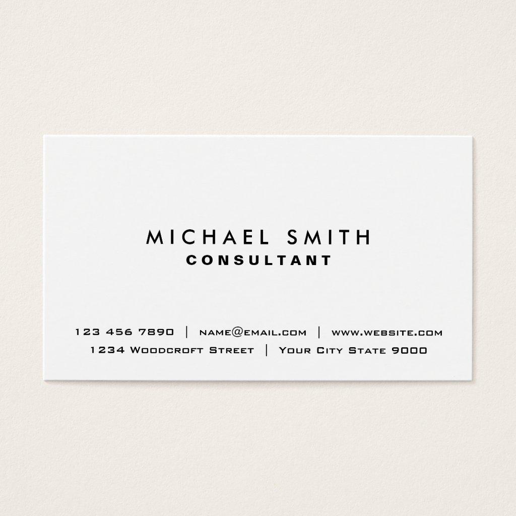 White Professional Plain Elegant Modern Simple