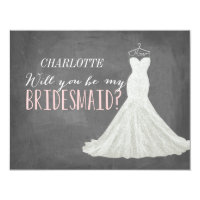 Will You Be My Bridesmaid Invitation Card