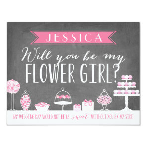 Will You Be My Flower Girl | Bridesmaid Invitation