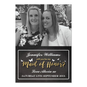 Will You Be My Maid of Honor | Photo Invitation
