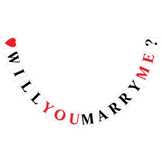 WILL YOU MARRY ME? MARRIAGE PROPOSAL BUNTING