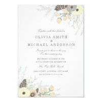 Winter Foliage Wedding Invitation