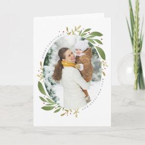 Winter Sprigs Christmas Photo Greeting Card