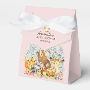 Woodland Animals Girls Baby Shower Favour Box