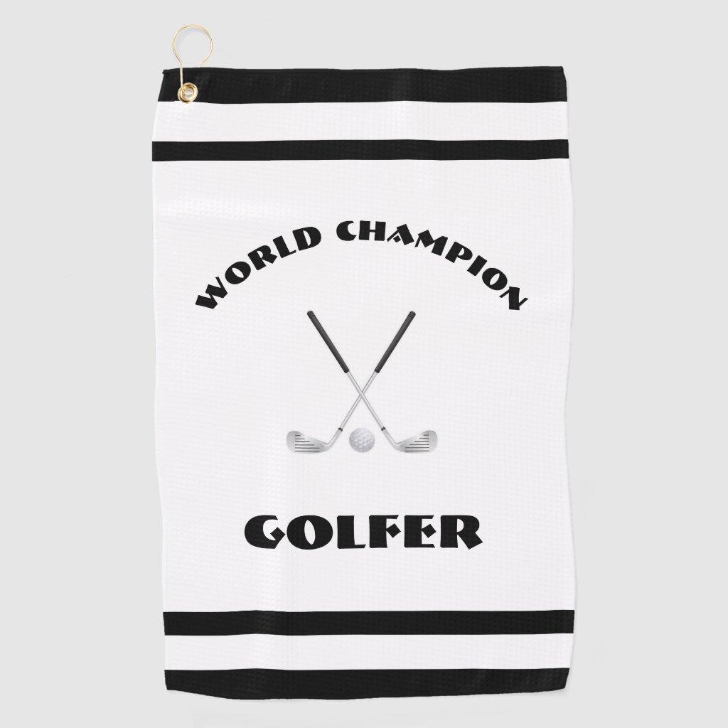 World Champion Golfer Golf Towel